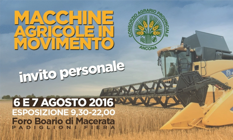 Macchine agricole in movimento 6 e 7 Agosto 2016